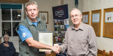 OWPG awards ceremony - Kingsley Jones / Guide book category